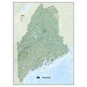 National Geographic Maps Maine State Wall Map