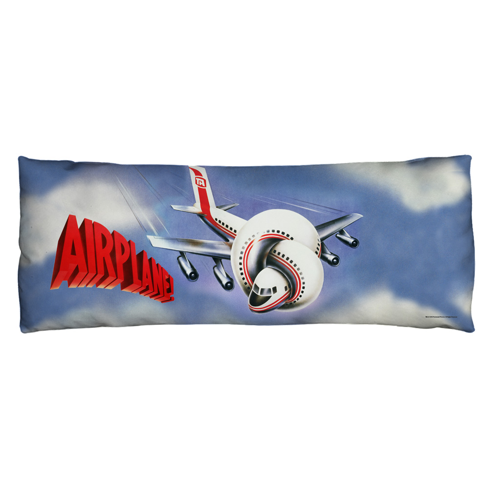 Airplane Poster Microfiber Body Pillow White 18X54