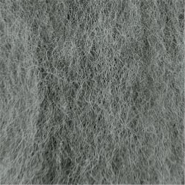 332193 Wool Roving 12 in. .22 Ounce-Medium Gray