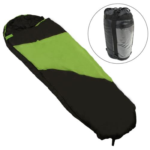 Kaufland 40� Adult Outdoor Mummy Sleeping Bag Green Black Compression Sack Camp by