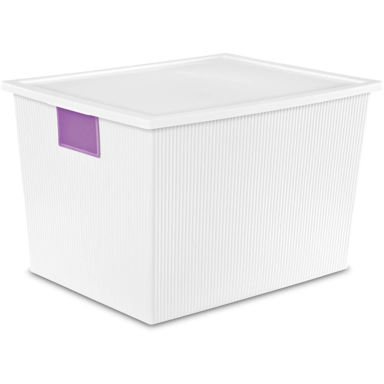 Sterilite 50 Quart ID Box- White, (Available in Case of 4 or Single Unit)