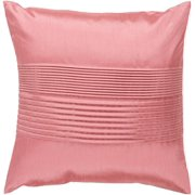 "18"" Light Salmon Pink Tuxedo Pleats Decorative Throw Pillow"