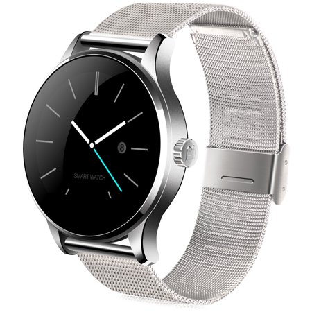 K88h Bluetooth Smart Watch With Heart Rate Monitor Stainless Steel Band Wristwatch For Ios And Android