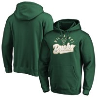 Men's Fanatics Branded Hunter Green Milwaukee Bucks Super Sweep Pullover Hoodie