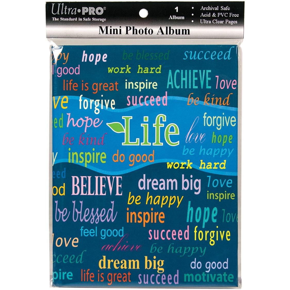 Ultra PRO 58202-R Mini Photo Album, 4 by 6-Inch, Life Multi-Colored