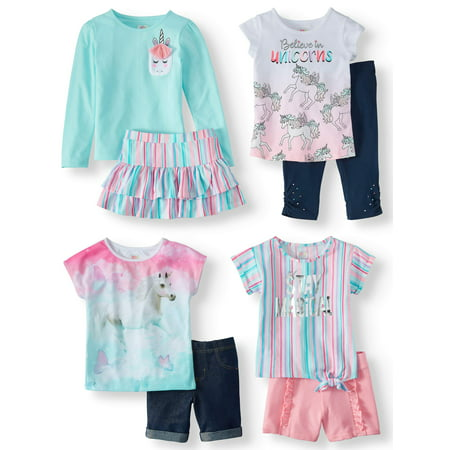 Girls' Kid-Pack Mix & Match Gift Box, 8-Piece Outfit Set