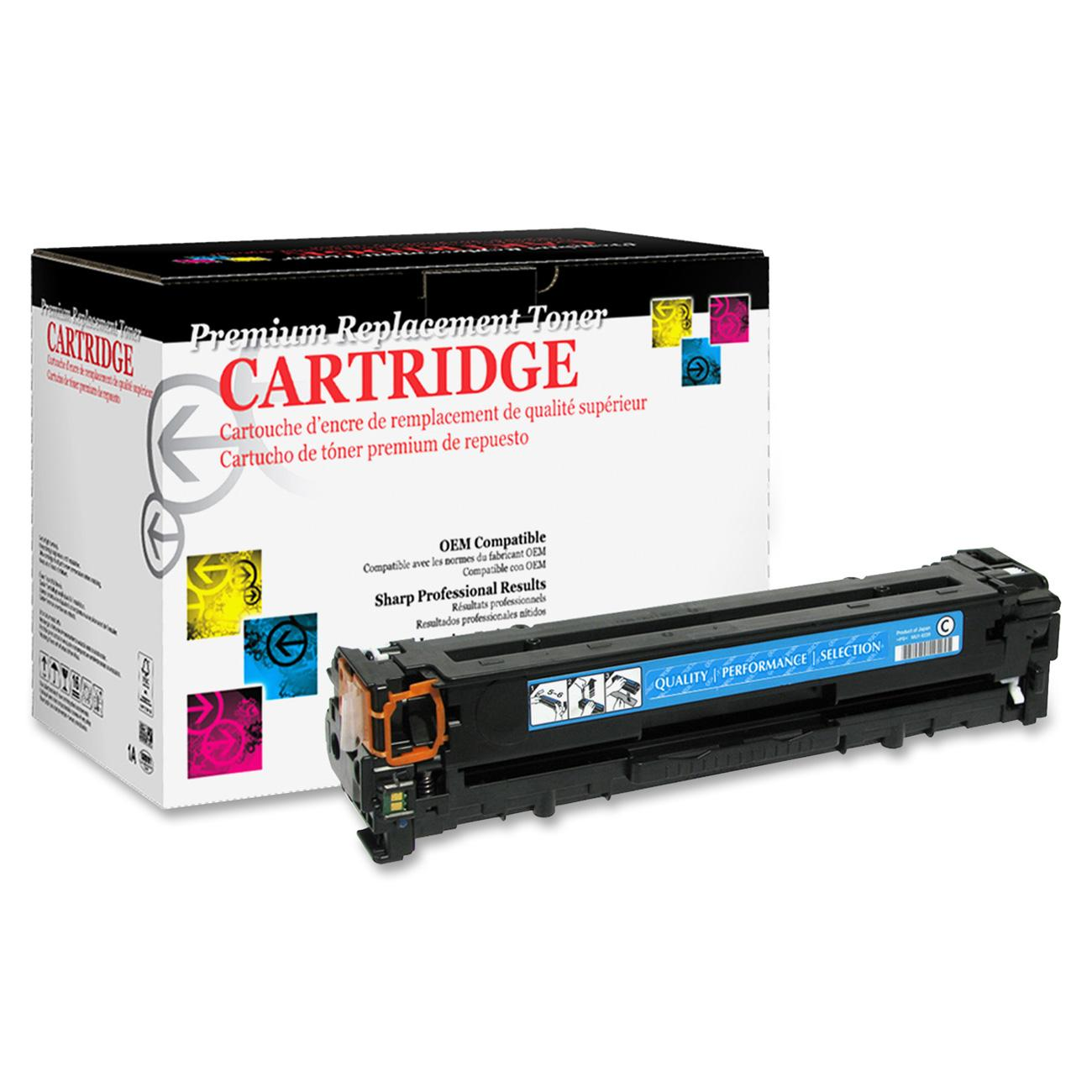West Point Remanufactured Toner Cartridge - Alternative for HP 125A (CB541A), 1 Each (Quantity)