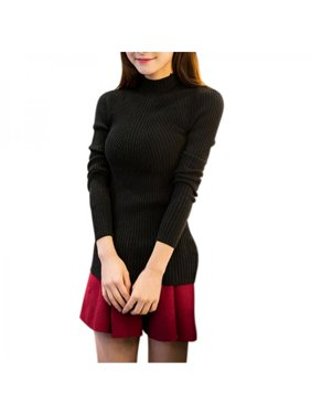 Product Image SWEETSMILE Women Sexy Slim Turtleneck Pullover Autumn Winter Sweater  Tops 6b73db548