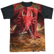 Anne Stokes - Dragons Lair - Short Sleeve Black Back Shirt - XXX-Large