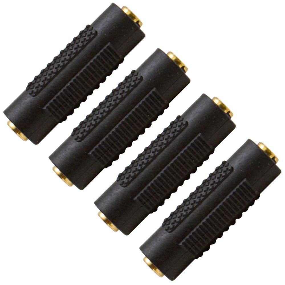 "Seismic Audio  - 4 Pack of 1/8"" Female to 1/8"" Female Coupler (Black & Gold) Multi color - SAPT124-4Pack"