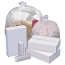 Highmark™ High-Density Can Liners, 12 Mic, 33 Gallons, 33