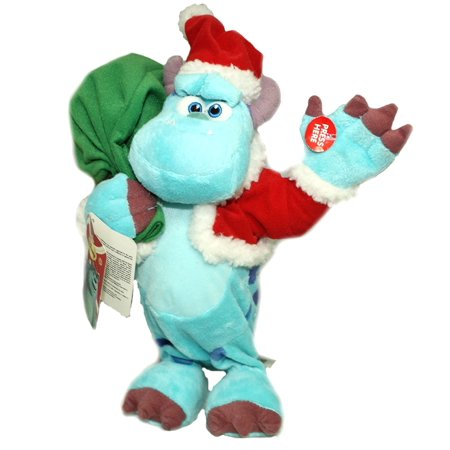 Monsters Inc Sully Santa Deluxe Figure Plush [We Wish You a Merry Christmas] Holiday Song Musical Dancing Deluxe Stuffed Toy Disney Pixar Cartoon Animated Movie Merchandise Room Decoration - Sully Monsters Inc Onesie