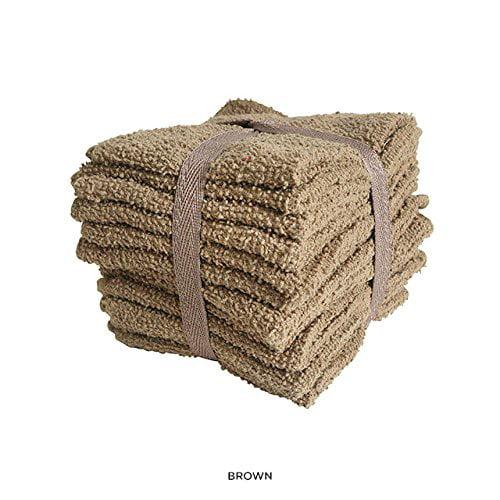 100% Cotton, Washcloths, Super Soft, 48 PCs, Big Value (Assorted Colors) by Home Sweet Home Dreams Inc