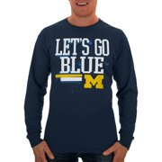 Russell NCAA Michigan Wolverines Big Men's Long  T-Shirt