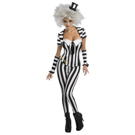 Halloween Sassy Beetlejuice Women's Costume (Halloween Costume Beetlejuice)