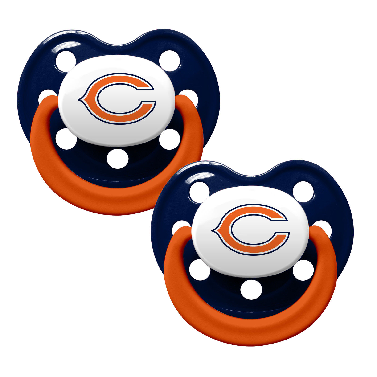 Chicago Bears 2-Tone 2-pack Infant Pacifier Set - 2014 NFL Baby Pacifiers by ...
