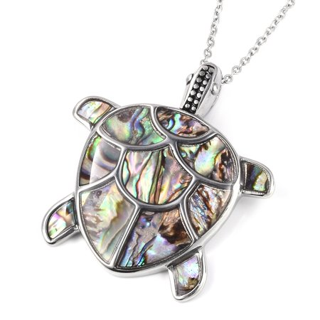 Chain Tortoise Pendant Necklace Stainless Steel Gift Jewelry for Women Size 20