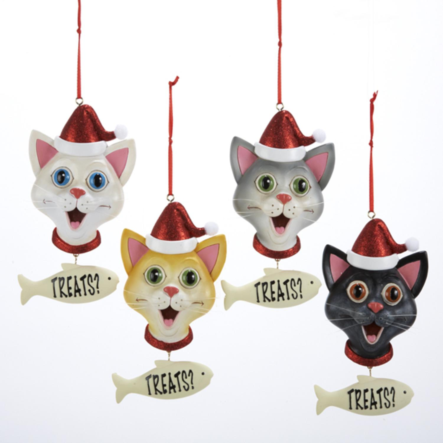gloria duchin cat christmas ornament and keychain gift set walmartcom - Cat Christmas Decorations