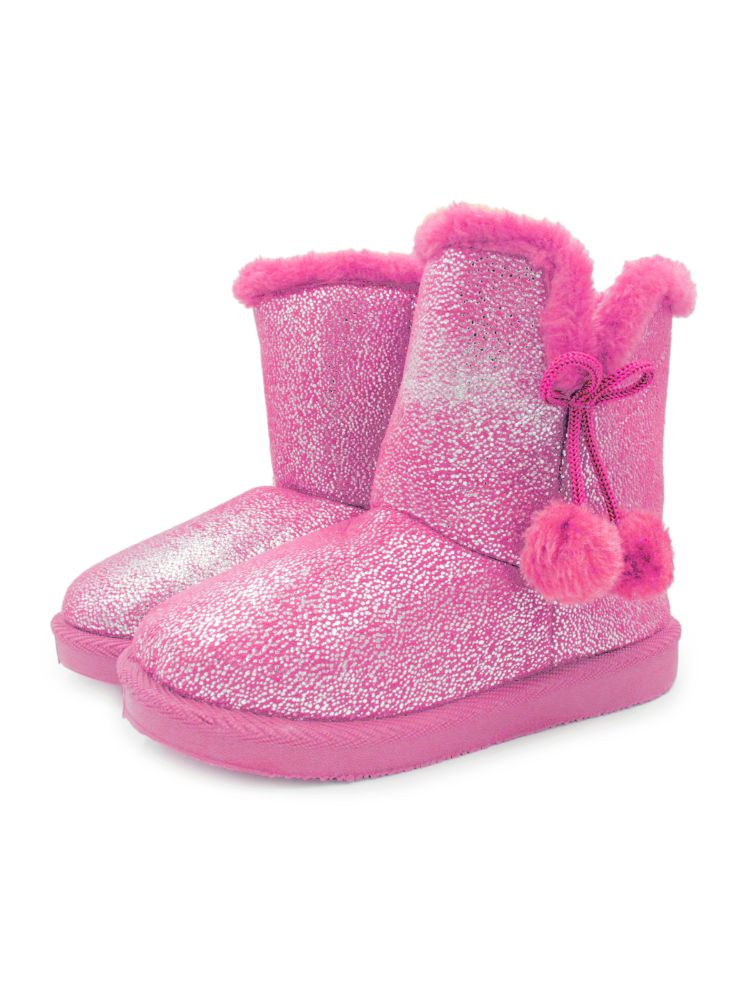 Childrens Shoes Suede Soft Bottom Girls Big Bow Boots Warm Snow Boots
