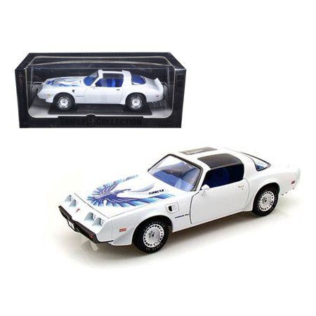 Pontiac Firebird Trans Am (1980 Pontiac Firebird Trans Am White Triple 9 Collection 1 of 999 Produced Worldwide 1/18 Diecast Model by Greenlight )