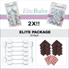 EliteBaby Baby Proofing Child Safety Kit, 8 Pack, Magnetic Cabinet Locks, Child Safety Locks, Clear Corner Guards, Brown Corner Protectors, No Tools