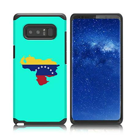 For Samsung Galaxy (Note 8) Shockproof Impact Hard Soft Case Cover Venezuela Venezuelan Flag - Venezuela Note