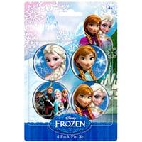 Disney Frozen Anna & Elsa Buttons 4-Pack