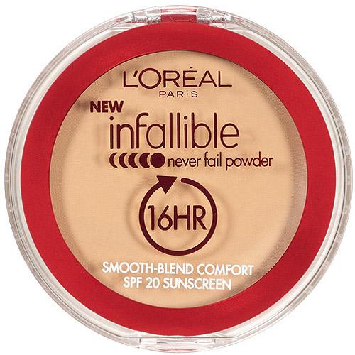 L'Oreal Paris Infallible 16 Hr Never Fail Powder, Creamy Natural, 664, 0.3 oz