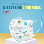 ECOSPRIAL Disposable Face Cover Masks in Green Kid 50 PCS