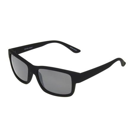 Foster Grant Men's Black Retro Sunglasses II04 - Black Retro Sunglasses