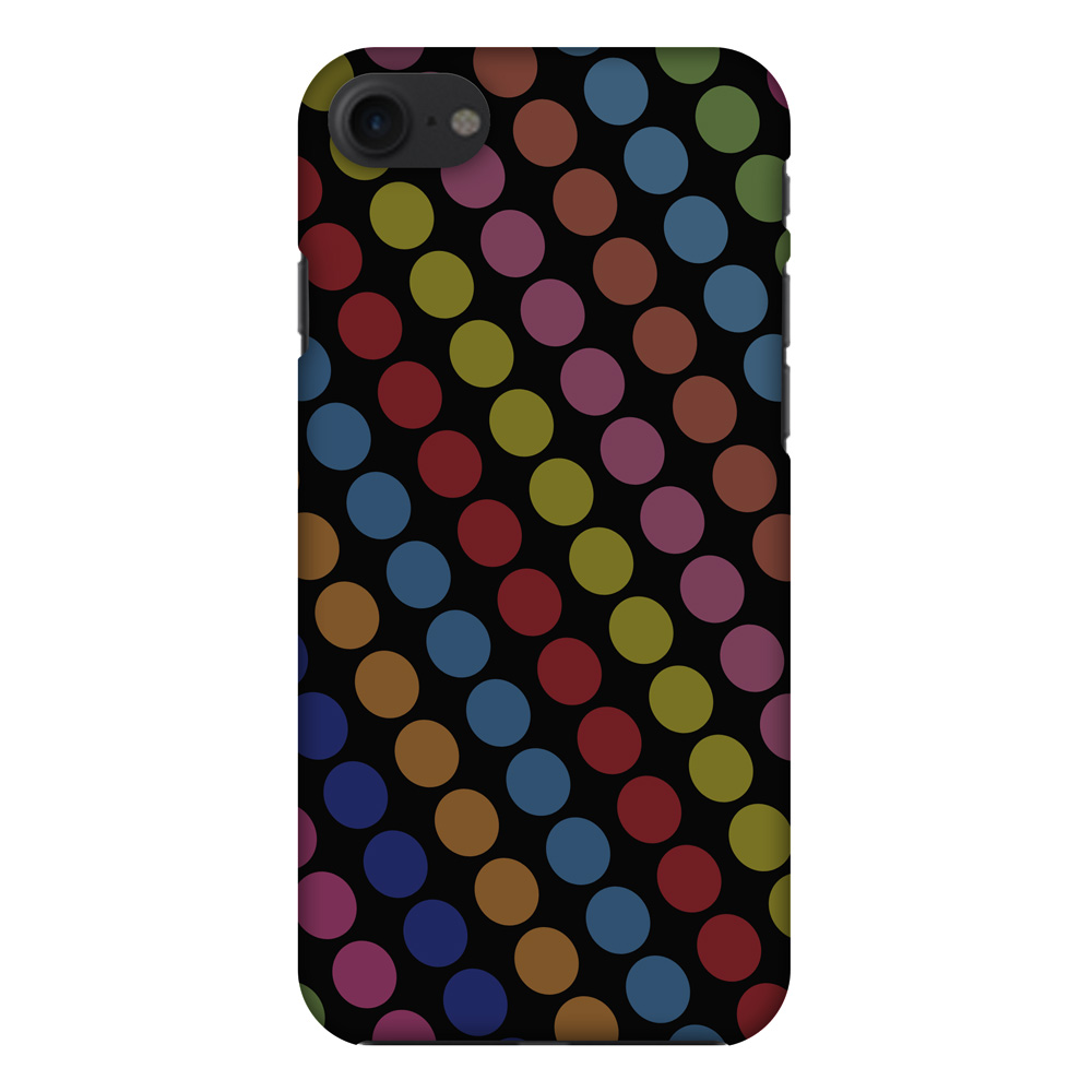 iPhone 7 Designer Case, Premium Handcrafted Printed Designer Hard ShockProof Case Back Cover for iPhone 7 - Funky Dot Stripes