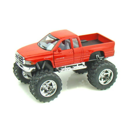 KINSMART 1:32 DISPLAY DODGE RAM (OFF ROAD) DIECAST CAR PICKUP TRUCK RED COLOR NO RETAIL BOX (1/8 Nitro Off Road Car)
