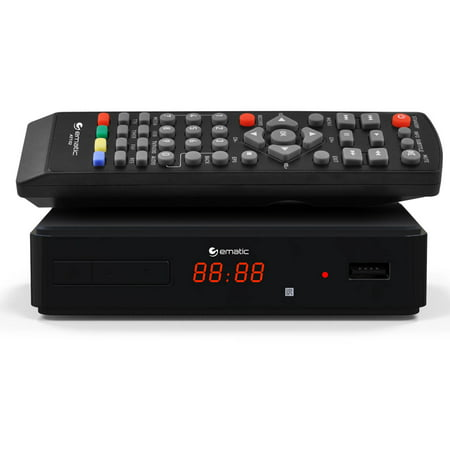 Ematic AT102 Digital TV HD Converter Box + Recorder with LED Display
