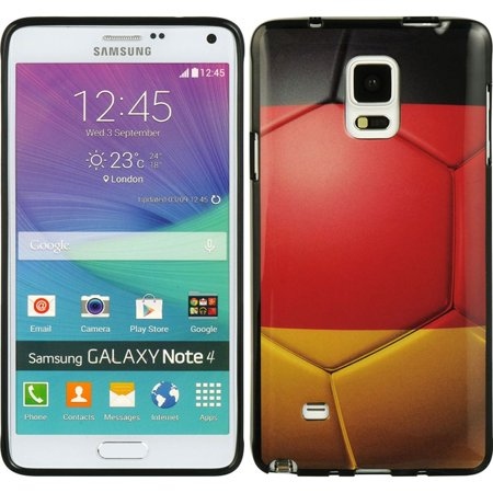 Insten Germany TPU IMD Rubber Skin Gel Back Shell Case For Samsung Galaxy Note 4 - Red/Black