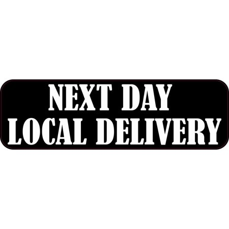 10in x 3in Next Day Local Delivery Sticker Vinyl Business Door Sign Decal - Wigs Next Day Delivery