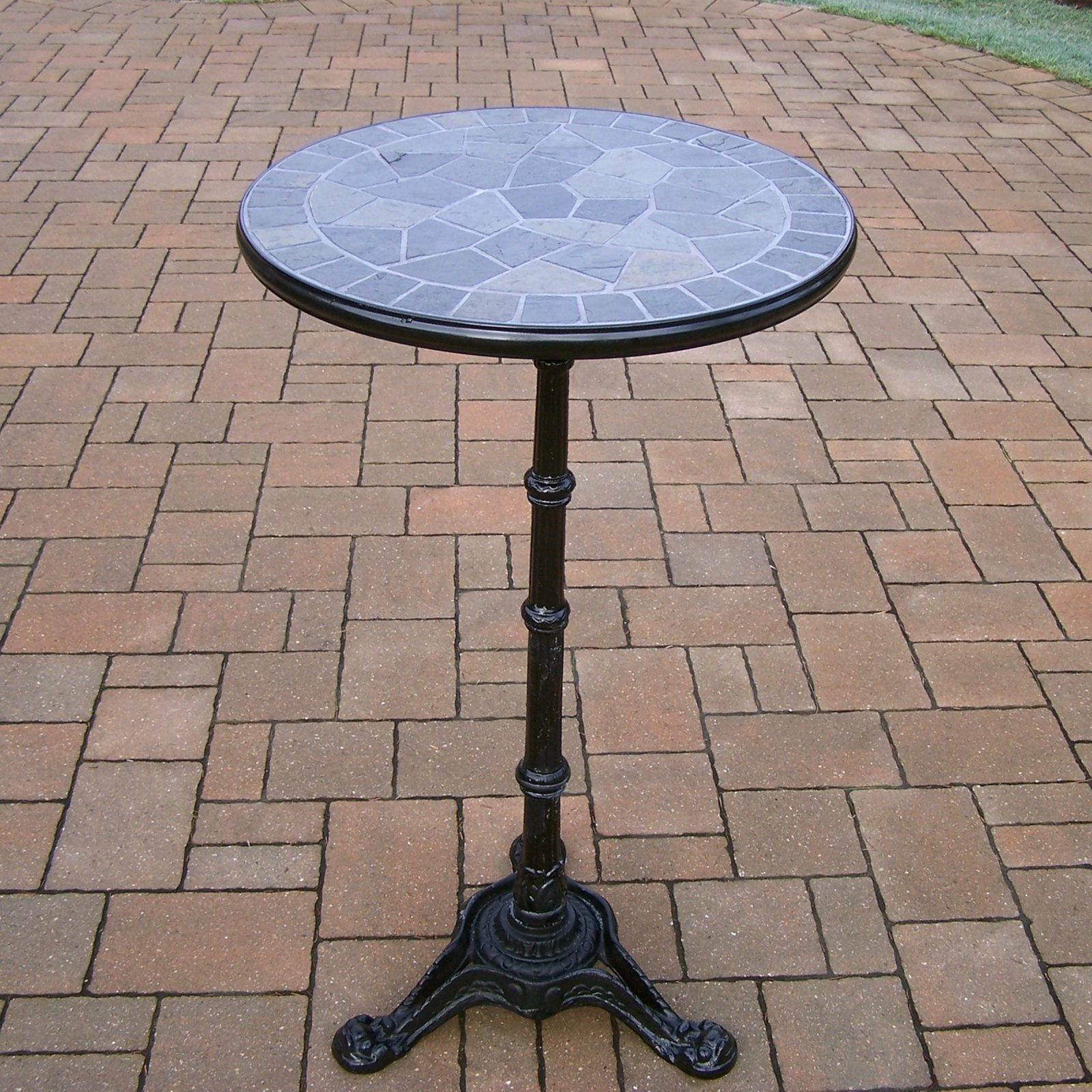 Oakland Living Stone Art Bar Height Patio Dining Table