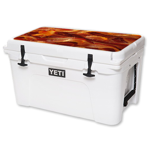 MightySkins Protective Vinyl Skin Decal for YETI Tundra 45 qt Cooler Lid wrap cover sticker skins Bacon