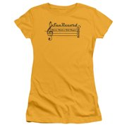 Sun Records Music Staff Juniors Short Sleeve Shirt