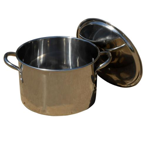 King Kooker #KK8S- 8 Qt. Polished Stainless Steel Pot w/Lid - KK8S