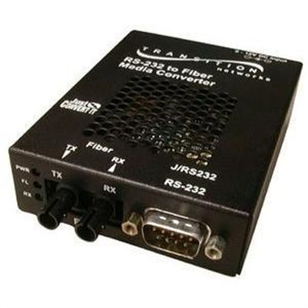 Transition Networks Networks Just Convert-IT RS232 Copper to Fiber Media Converter J/RS232-TF-01
