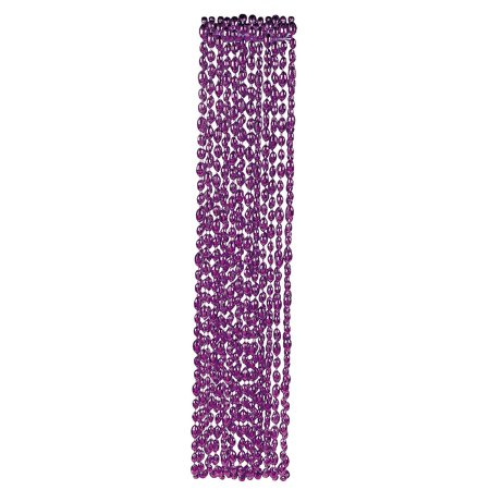 Fun Express - Purple Football Bead Necklaces - Jewelry - Mardi Gras Beads - Mot Shaped - 12 Pieces (Football Bead Necklaces)