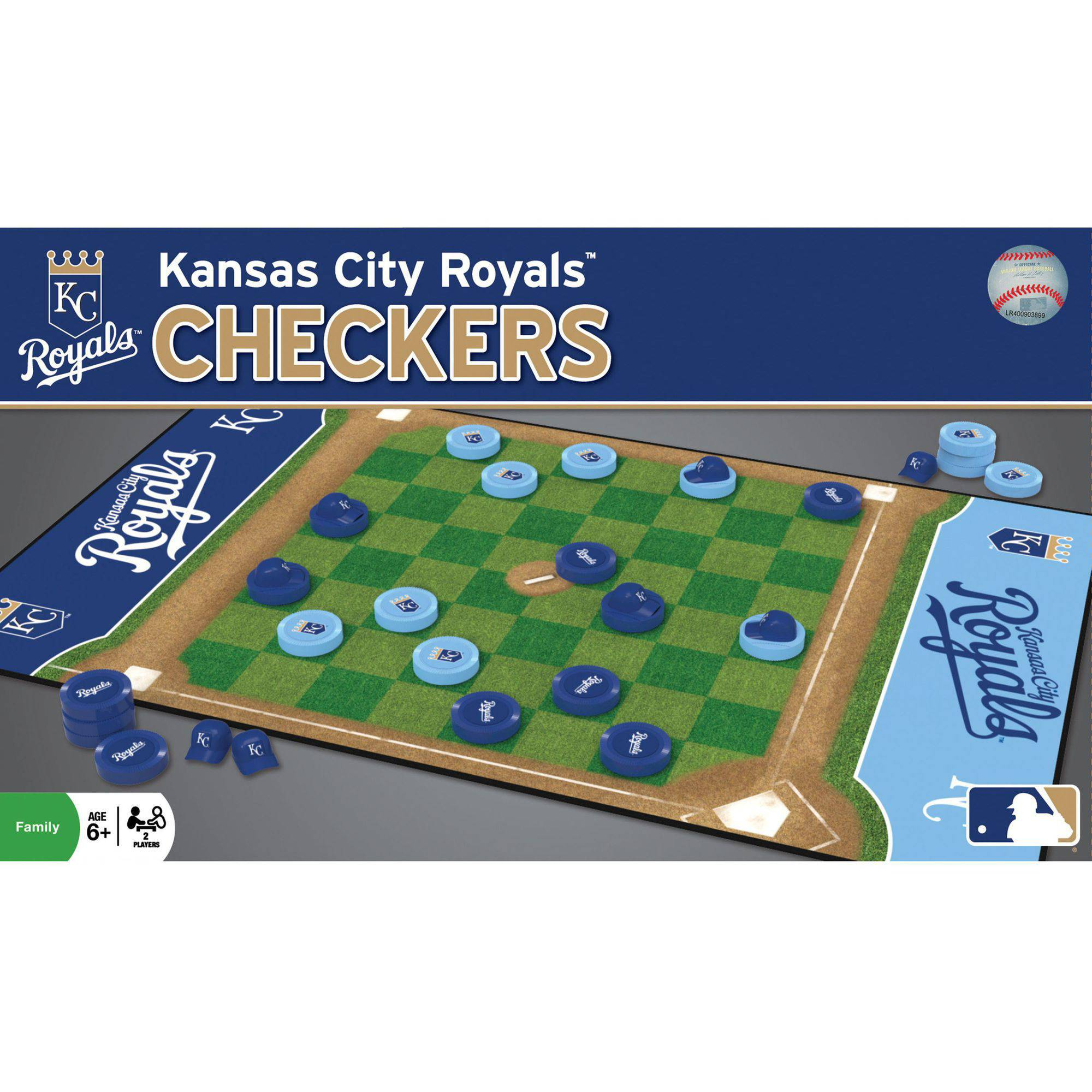 MasterPieces MLB Kansas City Royals Checkers Game by Generic