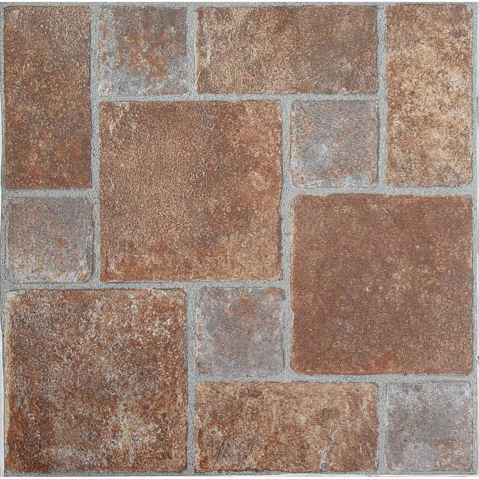 NEXUS Brick Pavers 12x12 Self Adhesive Vinyl Floor Tile- 20 Tiles/20 Sq.Ft.