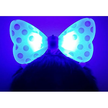 Lws La Wholesale Store 1 Light Up Minnie Mickey Mouse Bows Polka