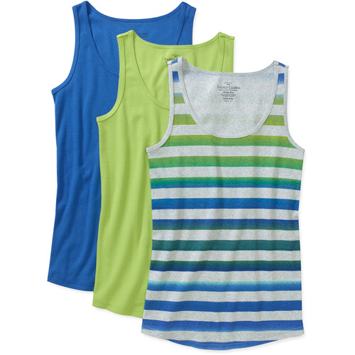 Faded Glory Maternity Ribbed Tank, 3-Pack Value Bundle