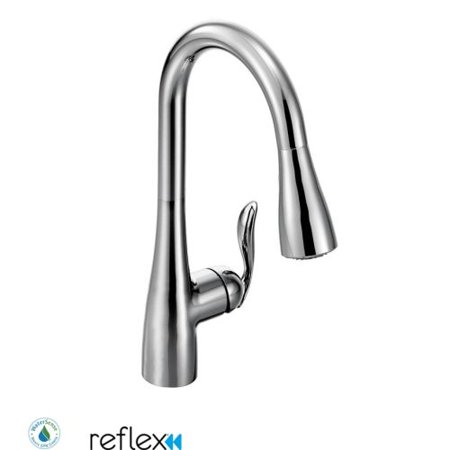 Moen 7594 Arbor Single Handle Pulldown Spray Kitchen Faucet with Reflex Technology - Chrome