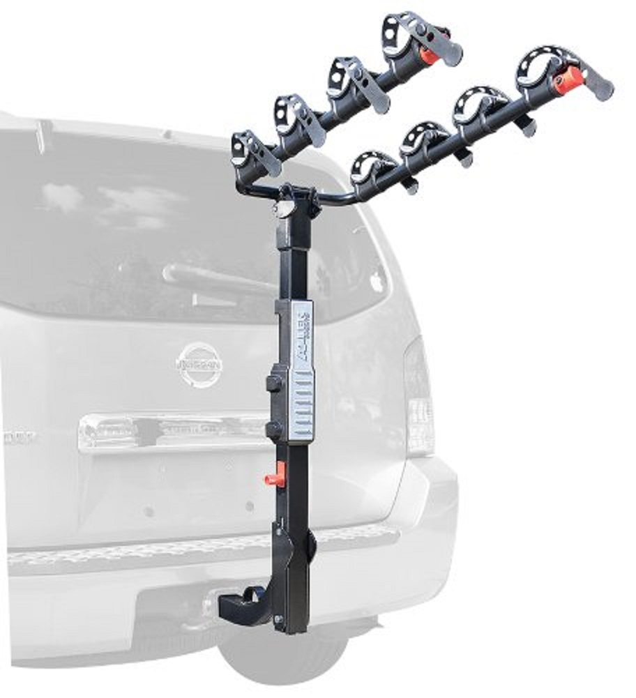 Allen Sports Premier Hitch Mounted 4-Bike Carrier with 6' OnGuard Locking Cable by