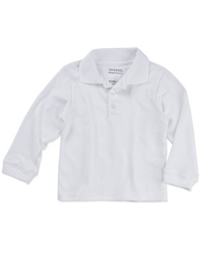 Toddler Boy or Girl Unisex School Uniform Long Sleeve Sleeve Polo Shirt
