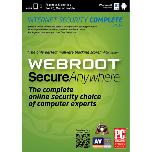 Webroot Software Inc Secure Anywhere Complete 2013