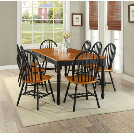 Better Homes And Gardens Autumn Lane Windsor Chairs Set Of 2 Black And Oak Best Dining Chairs